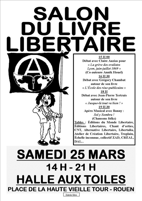 Salon du livre libertaire rouen salon du livre for Salon du chiot rouen